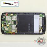 How to disassemble HTC Desire 326G, Step 8/1