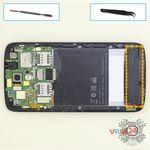 How to disassemble HTC Desire 326G, Step 6/1