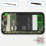How to disassemble HTC Desire 310, Step 6/1