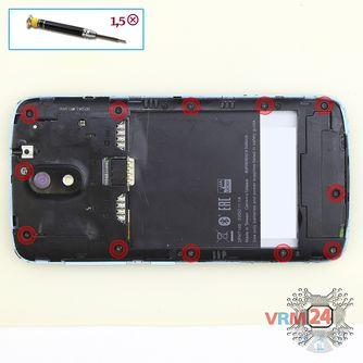 How to disassemble HTC Desire 326G, Step 3/1