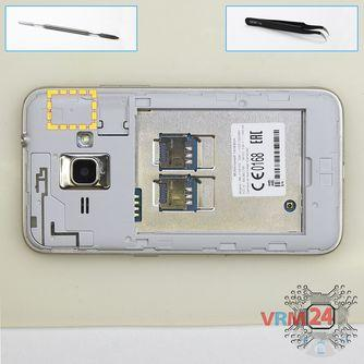How to disassemble Samsung Galaxy J1 (2016) SM-J120, Step 3/1