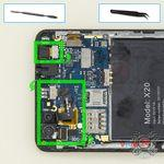 How to disassemble Doogee X20, Step 7/1