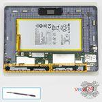 How to disassemble Huawei MediaPad T3 (10''), Step 9/1