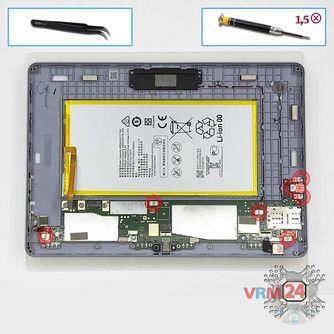 How to disassemble Huawei MediaPad T3 (10''), Step 10/1