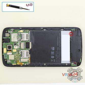 How to disassemble HTC Desire 326G, Step 5/1